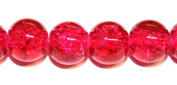 85pcs x 10mm Red glass crackled beads -- 3005047